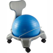 CanDo® Plastic Mobile Ball Chair with Back, Child Size, 38 cm Ball