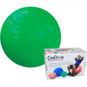 "CanDo® Inflatable Exercise Ball, Green, 65 cm (26""), Retail Box"