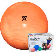 "CanDo® Deluxe ABS Inflatable Exercise Ball, Extra Thick, Orange, 55 cm (22"")"