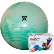 """CanDo® Deluxe ABS Inflatable Exercise Ball, Extra Thick, Green, 65 cm (26"""")"""