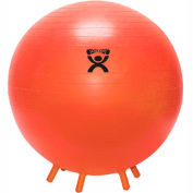 """CanDo® Inflatable Exercise Ball with Feet, Orange, 22"""" (55 cm)"""