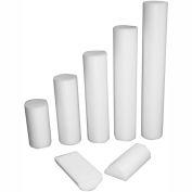 "CanDo® Slim White PE Foam Roller, Round, 3"" Dia. x 12""L"