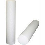 "CanDo® Jumbo White PE Foam Roller, Round, 8"" Dia. x 36""L"