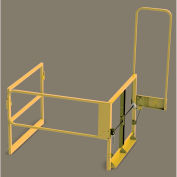 "FabEnCo Mezzanine Clear Height Safety Gate, Fits 64""W x 42""H, Safety Yellow"