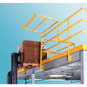 """FabEnCo MZ Series Mezzanine-Pivot Safety Gate, Fits Clear Opening 64""""W x 42""""H, Safety Yellow"""