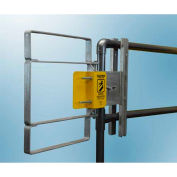 """FabEnCo XL Series Carbon Steel Galvanized Clamp-On Self-Closing Safety Gate, Fits Opening 34-36.5"""""""