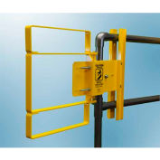 FabEnCo XL Series Carbon Steel Yellow Clamp-On Self-Closing Safety Gate, Fits Opening 37-39.5""
