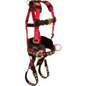 FallTech® 7078LX Foreman+ 3-D Full Body Harness, 3 D-rings, Size L/XL