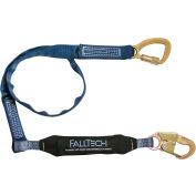 FallTech® 8241 WrapTech 6' Shock Absorbing Lanyard, Single Leg, with 1 Snap Hook
