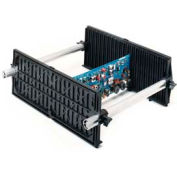 "Fancort Karry-All Model 79 Adjustable Conductive Medium PCB Rack, 9""W x 5-1/2""D x 15-1/4""H"