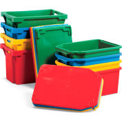 "Schaefer Stack & Nest Tote FB604 - 24""L x 16""W x 14""H - Red"