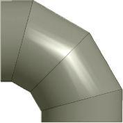 """Zip-A-Duct™ 20"""" Diameter 90 ° Gray Left Hand Elbow"""