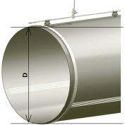 """Zip-A-Duct™ 28"""" Gray Straight Section With Vents - 1000 CFM"""
