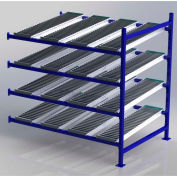 """UNEX FC99SR72484-A Flow Cell Heavy Duty Gravity Rack Add-On 72""""W x 48""""D x 72""""H with 4 Levels"""