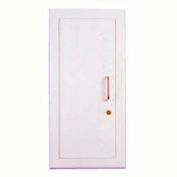 "Elite Series Semi-Recessed Full Metal Extinguisher Cabinet, 8""W x 16-3/4""H x 5""D"