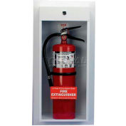 Classic Series Semi-Recessed Mounted Extinguisher Cabinet, 10 Lb. Capacity