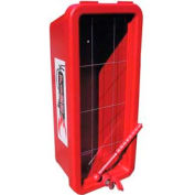 "Plastic Series Extinguisher Cabinet, 9-1/4""W x 23-1/4""H x 7-1/4""D, Red"