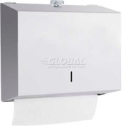 A&J Washroom Towel Dispenser U180A-TK, C-Fold/Multifold, W/Twist Lock, Surface Mounted
