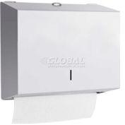 A&J Washroom Towel Dispenser U180A, C-Fold/Multifold, Surface Mounted