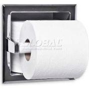 A&J Washroom Toilet Tissue Dispenser UC72, Single, W/Hide-A-Roll, Recessed