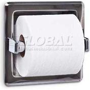 A&J Washroom Toilet Tissue Dispenser UX70-BF, Single, Bright, Recessed