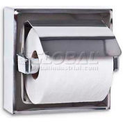 A&J Washroom Toilet Tissue Dispenser UX71-BF-SM, Single, Bright, Hooded, Surface Mounted