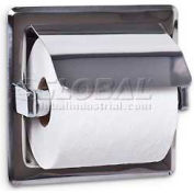 A&J Washroom Toilet Tissue Dispenser UX71-BF, Single, Bright, Hooded, Recessed