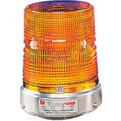 Federal Signal 131ST-012-024A Strobe, 12-24VDC, Pipe Mount, Amber
