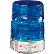 Federal Signal 131ST-012-024B Strobe, 12-24VDC, Pipe Mount, Blue
