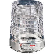 Federal Signal 131ST-012-024C Strobe, 12-24VDC, Pipe Mount, Clear