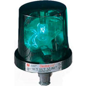Federal Signal 225-120G Rotating Light, 120VAC, Green
