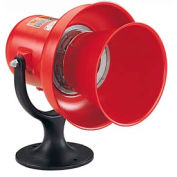 Federal Signal A-120 Siren, 120VAC/DC, Electromechanical, Red