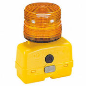 Federal Signal BPL26L-A Strobe light, battery-poweRed 12VDC, Amber