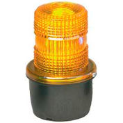 Federal Signal LP3M-120A Strobe light, male pipe mount, 120VAC, Amber