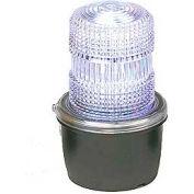 Federal Signal LP3M-120C Strobe light, male pipe mount, 120VAC, Clear