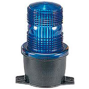 Federal Signal LP3T-012-048B Strobe, T-mount, 12-48VDC, Blue