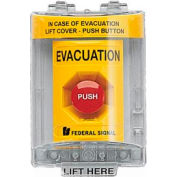 Push Station With Sounder And Cover, Evacuation Yellow