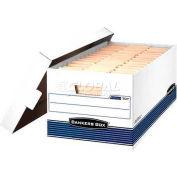"Fellowes 00702 Stor/File™, Legal Box, 25-3/8""L x 15-7/8""W x 10-1/4""H, White/Blue - Pkg Qty 12"