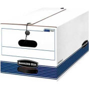 "Fellowes 00705 Stor/File™, Legal Box, 24-1/8""L x 15-1/4""W x 10-3/4""H, White/Blue - Pkg Qty 12"
