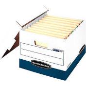 Fellowes 00709 Stor/File™ End Tab, Letter/Legal Box, 16-7/8x13-1/4x10-1/2, White/Blue - Pkg Qty 12