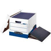 "Fellowes 0073301 Binderbox™, Binder Box, 20-1/8""L x 13-1/8""W x 12-3/8""H, White/Blue - Pkg Qty 12"