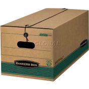 "Fellowes 00773 Recycled Stor/File™, Letter Box, 24-1/8""L x 12-1/4""W x 10-3/4""H, Kraft/Green - Pkg Qty 12"