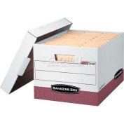 """Fellowes 07242 R-Kive®, Letter/Legal Box, 16-1/2""""L x 12-3/4""""W x 10-3/8""""H, White/Red - Pkg Qty 12"""