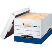 """Fellowes 07243 R-Kive®, Letter/Legal Box, 16-1/2""""L x 12-3/4""""W x 10-3/8""""H, White/Blue - Pkg Qty 12"""