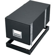 """Fellowes 12602 Metal Base, Letter Box, 13-7/8""""W x 25-3/8""""D x 2-1/2""""H, Black"""