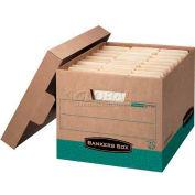 "Fellowes 12775 Recycled R-Kive®, Letter/Legal Box, 16-1/2""L x 12-3/4""W x 10-3/8""H, Kraft/Green - Pkg Qty 12"