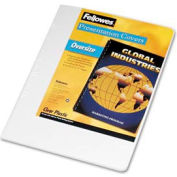 """Fellowes® Transparent PVC Presentation Covers, Oversized, 11-1/4"""" x 8-3/4"""", 25/pack"""