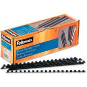 "Fellowes®  Plastic Combs - Round Back, 1/4"", 20 Sheets, Black, 100/Pk - Pkg Qty 30"