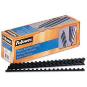 "Fellowes® Plastic Combs - Round Back, 5/16"", 40 Sheets, Black, 100/PK - Pkg Qty 30"