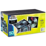 NEATO®  Slim Jewel Cases - Clear/Black, 50 pack - Pkg Qty 3